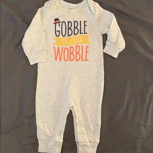 Gobble til you wobble one piece.